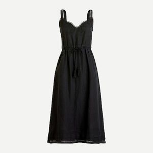 ✨NWT✨J. CREW // Drawstring dress with embroidery